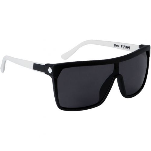 Spy Optic Flynn Look Series Adult Sunglasses, color: Matte/Shiny Clear/Grey Green with Blue Spectra | Black with Matte Black/Grey | Cedar with Black/Grey with Black Mirror | Primer Grey/Grey with Blue Spectra Mirror | Black Ice/Purple Spectra | Classic Fade/Grey with Green Spectra | Bro in The Dark/Grey with Green Spectra | Matte Ebony with Ivory/Grey | Whitewall/Light Blue Spectra | Cherry Bomb/Grey with Red Spectra, category/department: men-sunglasses, women-sunglasses